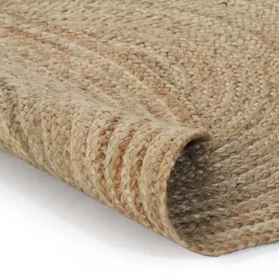 tapis en jute design tresse rond 150 cm