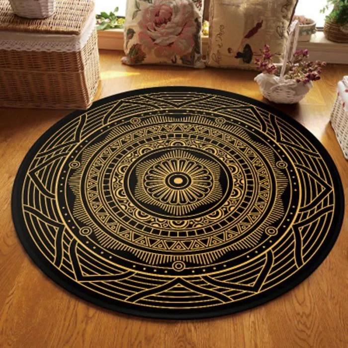 tapis ethnique rond 60cm tapis berbere motif st