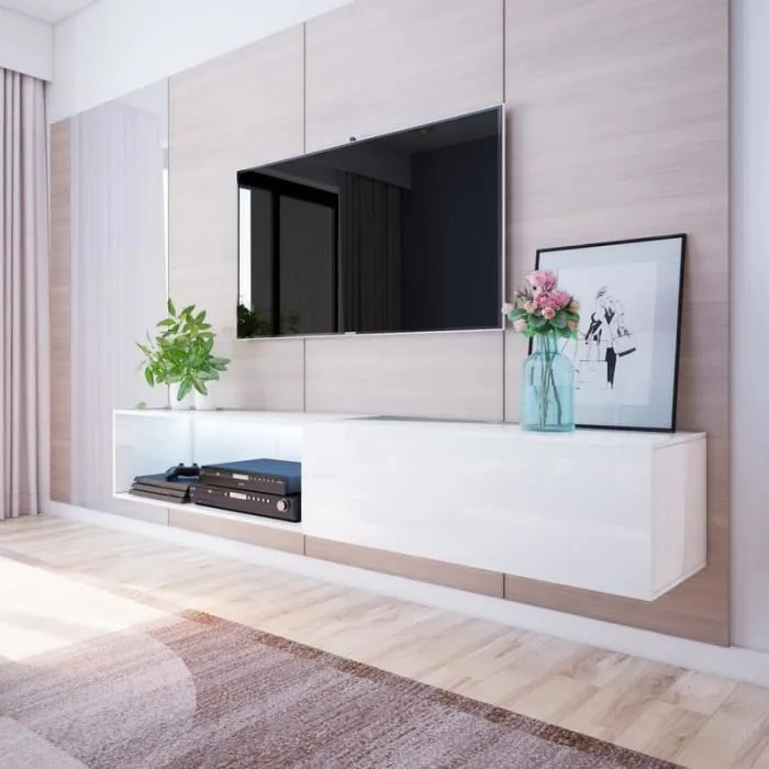meuble tv larka meuble tv suspendu