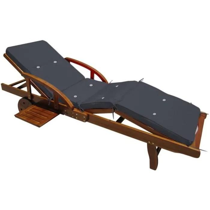 detex coussin pour transat chaise longue de jardi