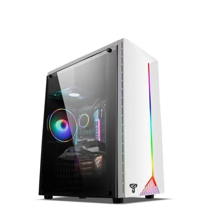 boitier pc ordinateur jeu panneau lateral transpar