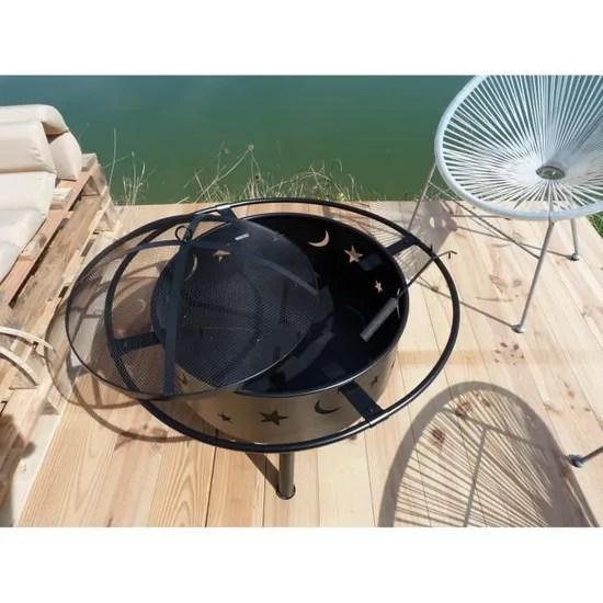 jardin en acier avec tisonnier cora