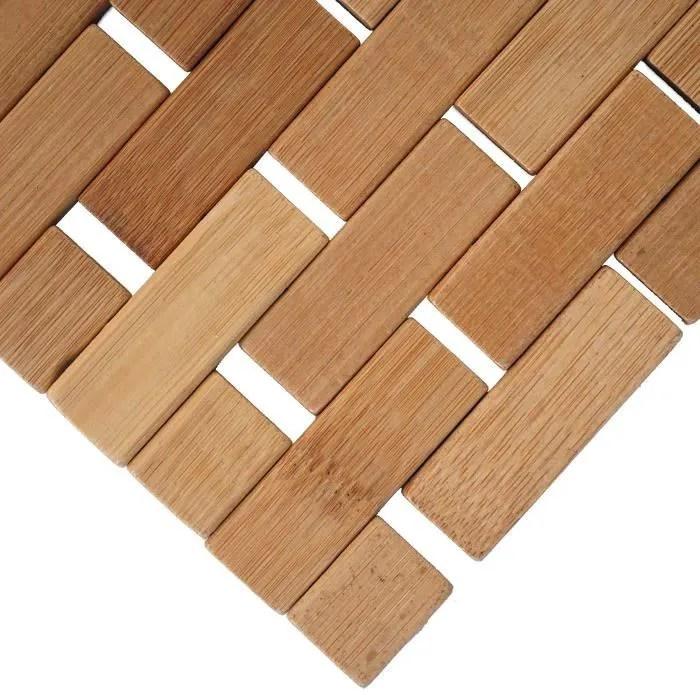 tapis salle de bains hwc b18 bambou