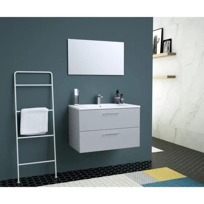 glossy meuble de salle de bain simple vasque l 80c