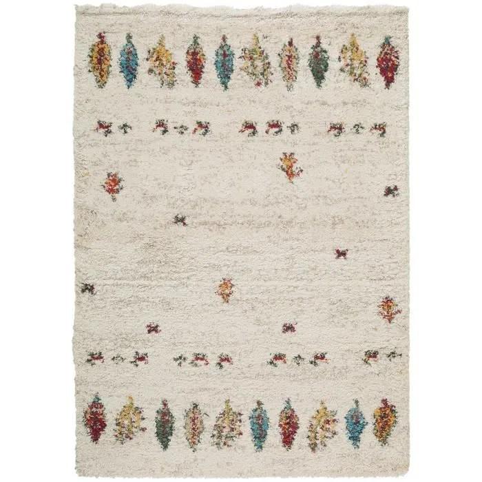 tapis shaggy a poils longs gobi beige 160x230 cm