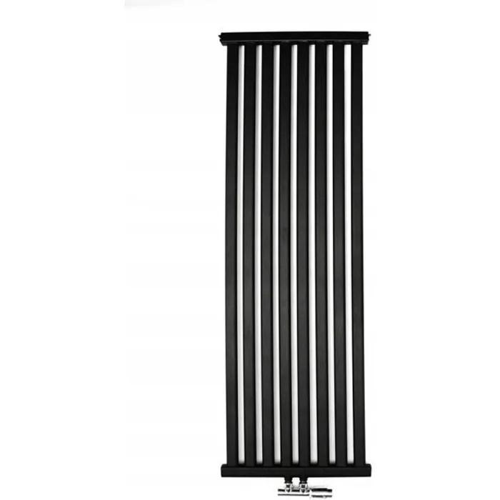 yoki radiateur eau chaude design vertical acier 180x50cm puissance 880 w radiateur 8 lames chauffage central entraxe 50mm