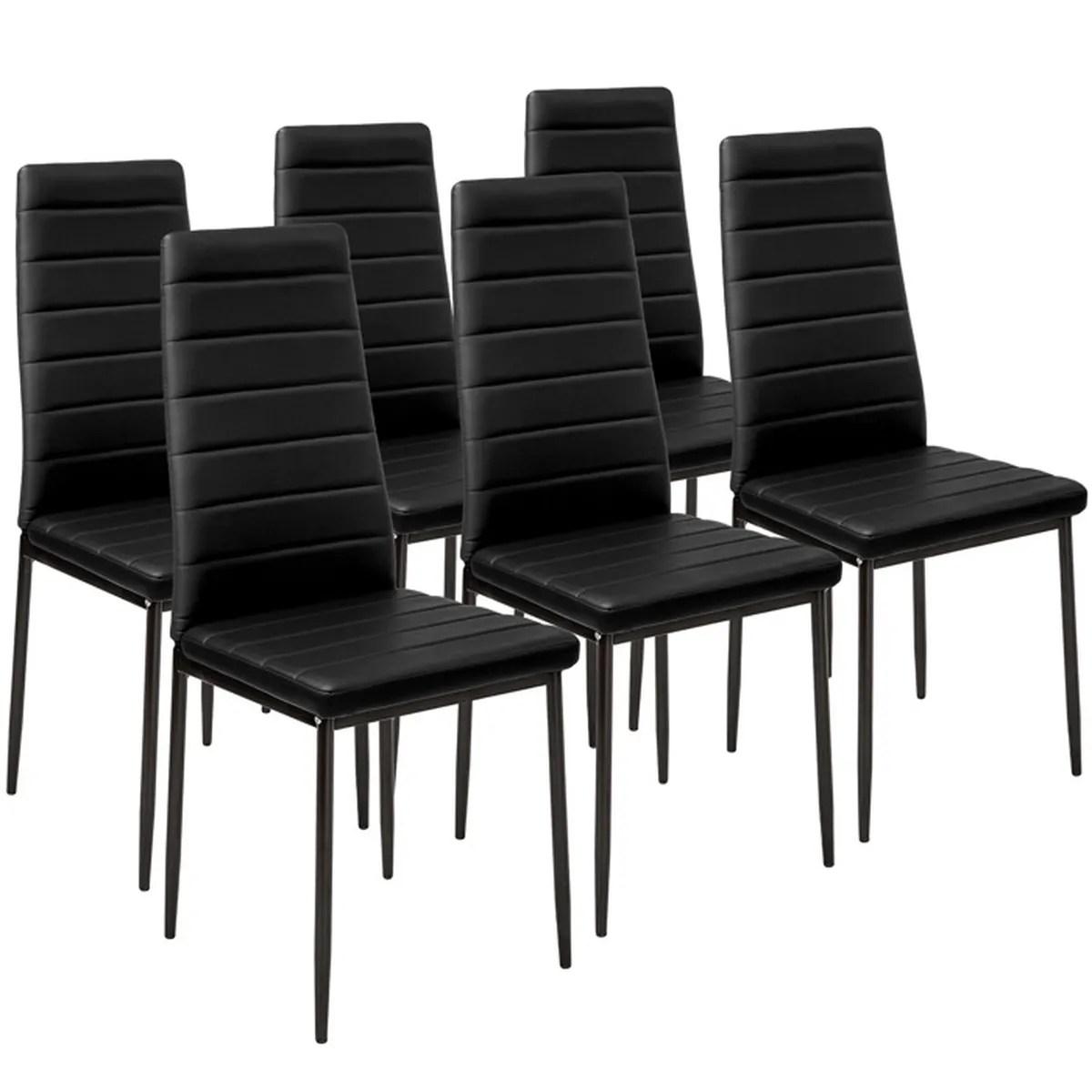 lot de 8 chaise noir