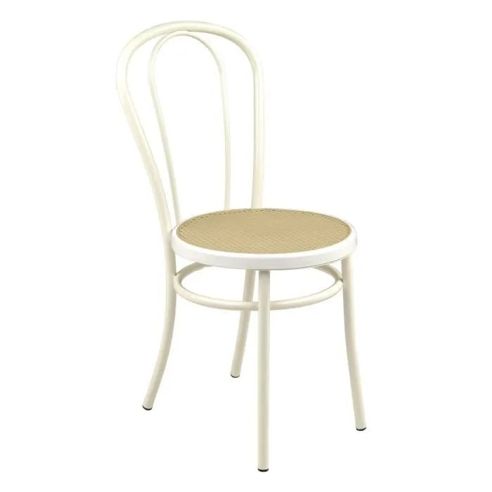 bistrot chaise blanche style bistrot blanc