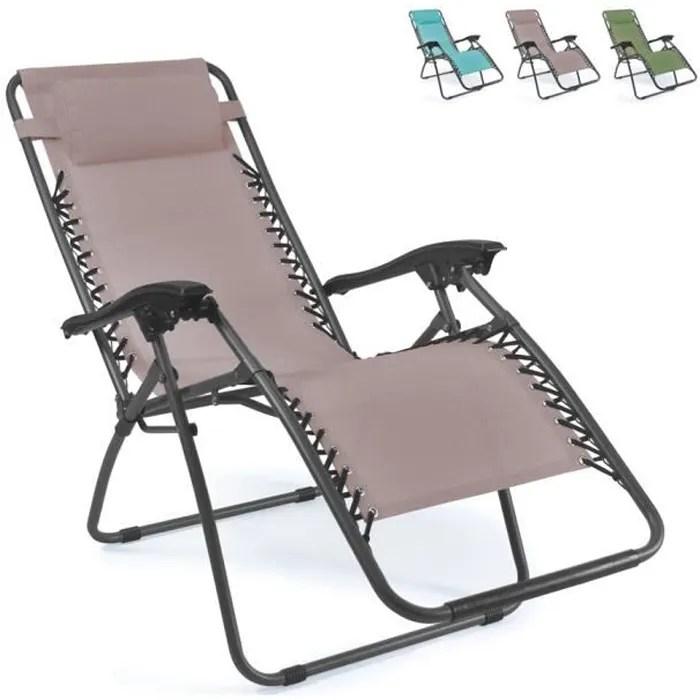 chaise longue de plage et de jardin pliante multi
