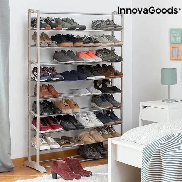 rangement chaussures ergonomique 45 paires posees sur 10 etageres design et solides meuble a chaussure dressing chaussures