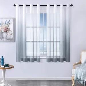 rideaux voilage blanc et gris