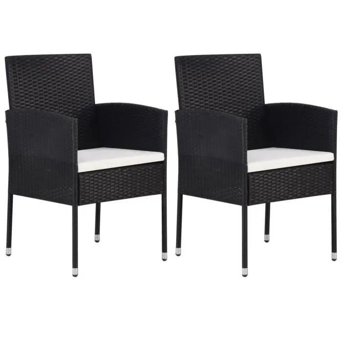 chezzoe lot de 2 fauteuil de jardin design moderne