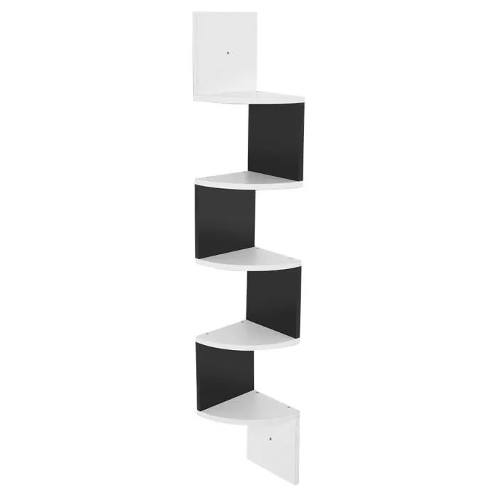 meuble d angle noir et blanc