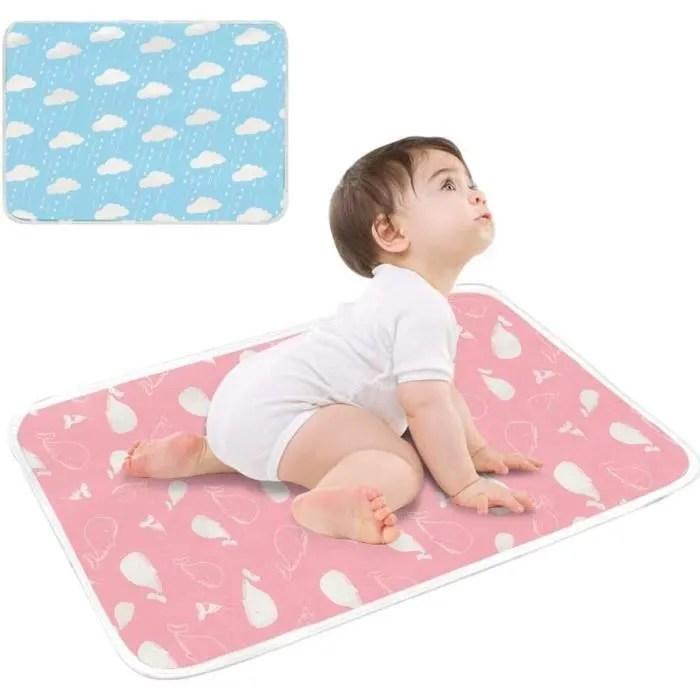 bebe impermeable matelas a langer protection de