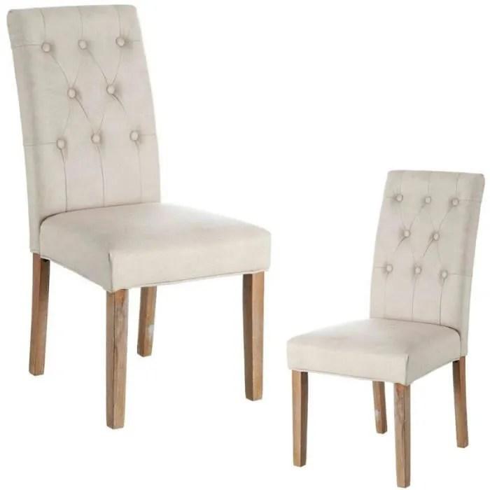duo de chaises simili cuir capitonne