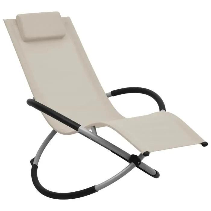 chaise longue transat de jardin fauteuil relax bai