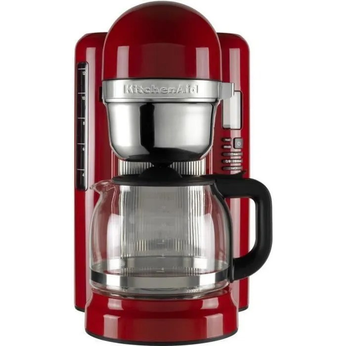 kitchen aid cafetiere a infusion 5kcm1204 fonctions simplifiees 1 7l rouge
