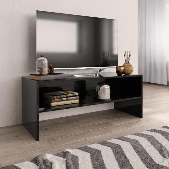 meuble tv contemporain meuble salon banc tv noir b