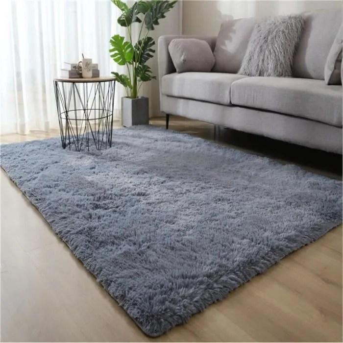 tapis salon shaggy gris 350 x 550 cm
