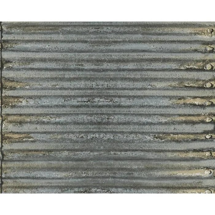 papier peint as creation effet metal
