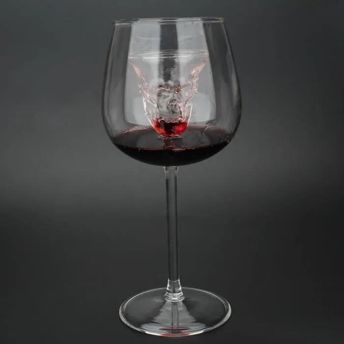 le squelette original bouteille de vin en verre de vin rouge cristal pour le verre de flutes