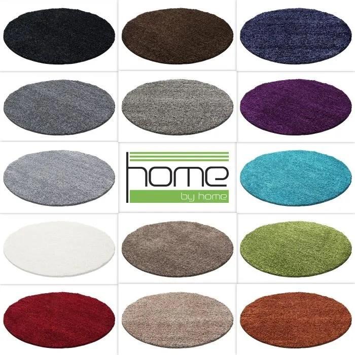tapis rond shaggy tapis salon vers couleurs et ta