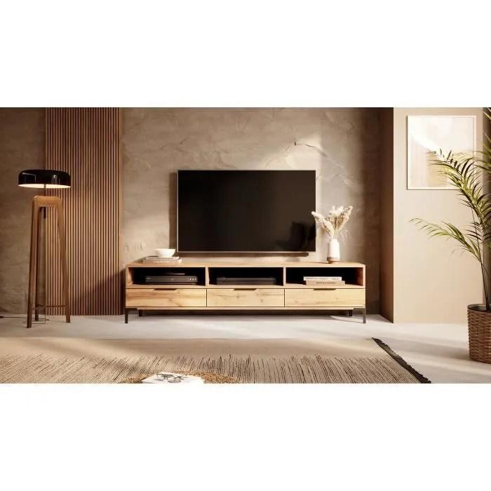 meuble tv rikke 160 cm chene