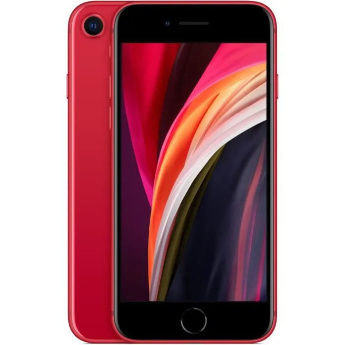 APPLE iPhone SE (PRODUCT) RED 128 GB (with AC adapter)