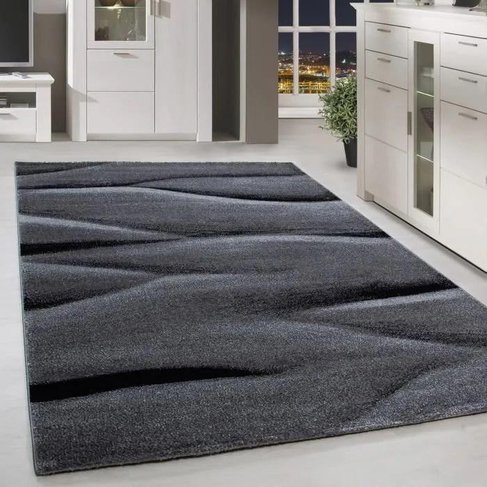 tapis poils courts gris