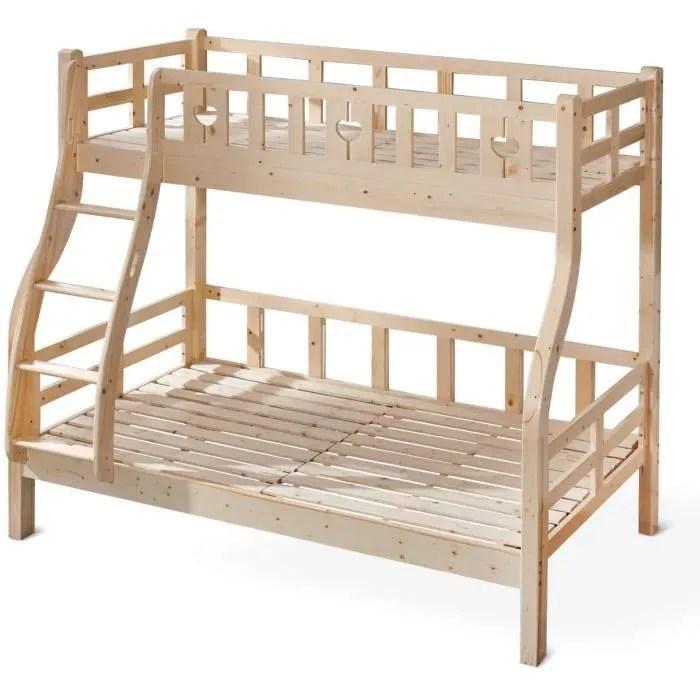 lit superpose lit en bois de pin massif lit enfant