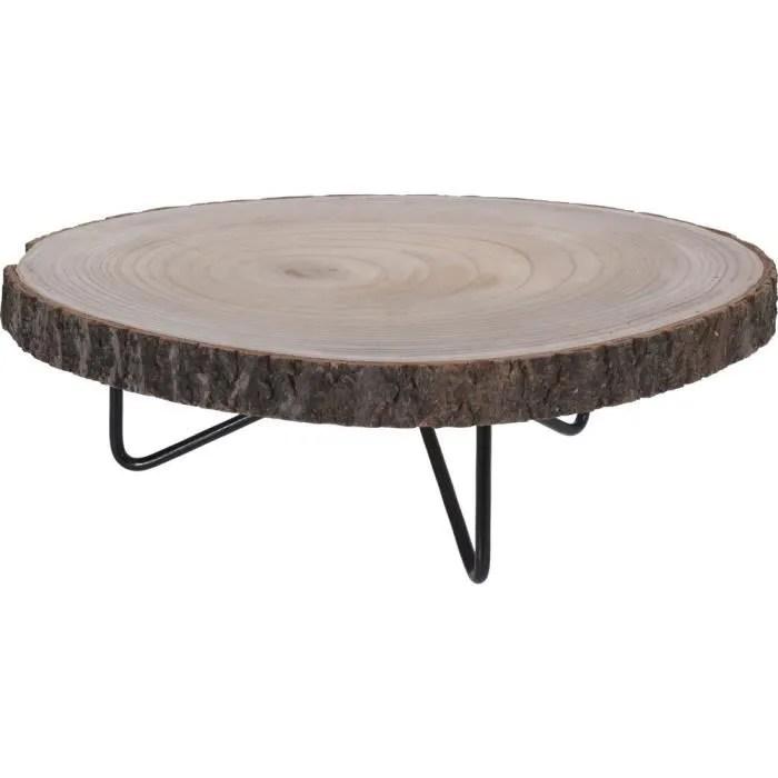 table tronc d arbre