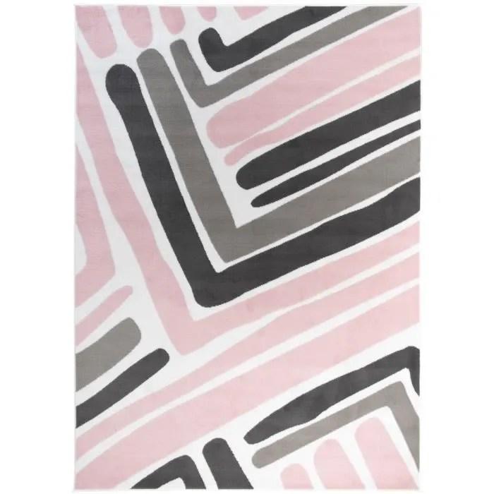 tapiso pinky tapis chambre enfant moderne geometri