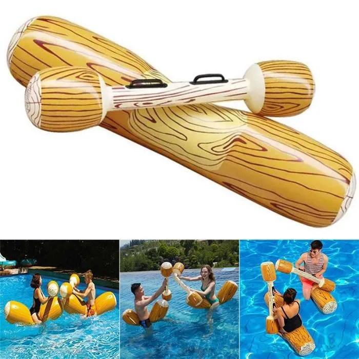 1 siege flottant de rangee de grain en bois de jouet de flottement de piscine gonflable pour des enfants adultes