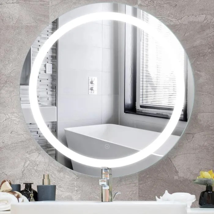 Miroir Salle De Bain Mural Eclairage Led Anti Buee En Mercure Sans Cuivre Achat Vente Miroir Salle De Bain Soldes Sur Cdiscount Des Le 20 Janvier Cdiscount
