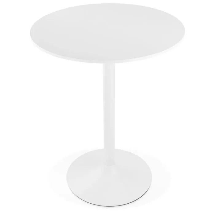 mange debout table haute bolero blanche o 90 cm dimensions 3d 90x90x110 cm table haute ou mange debout rond de 90 cm de