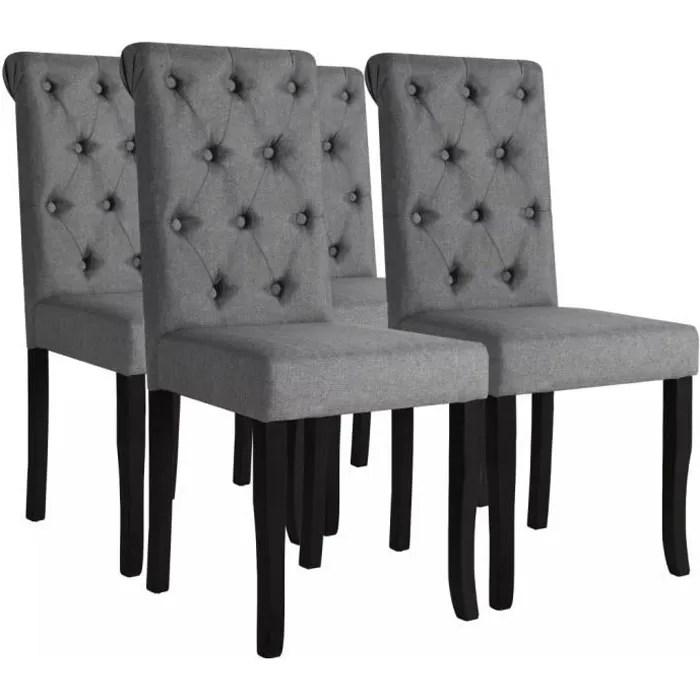 chaise de salle a manger 4 pcs bois chaises fauteuils de cuisine contemporain massif 42 x 52 x 96 cm gris fonce