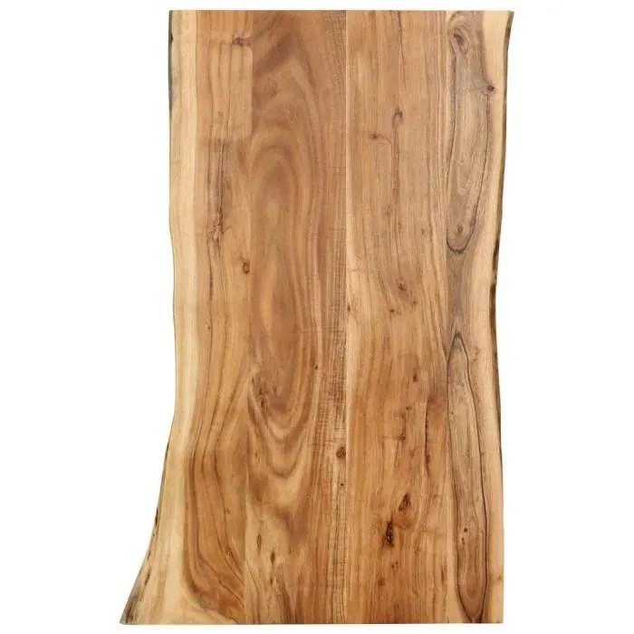 nouveau dessus de table de cuisine bois d acacia massif 100x60x2 5 cm xis
