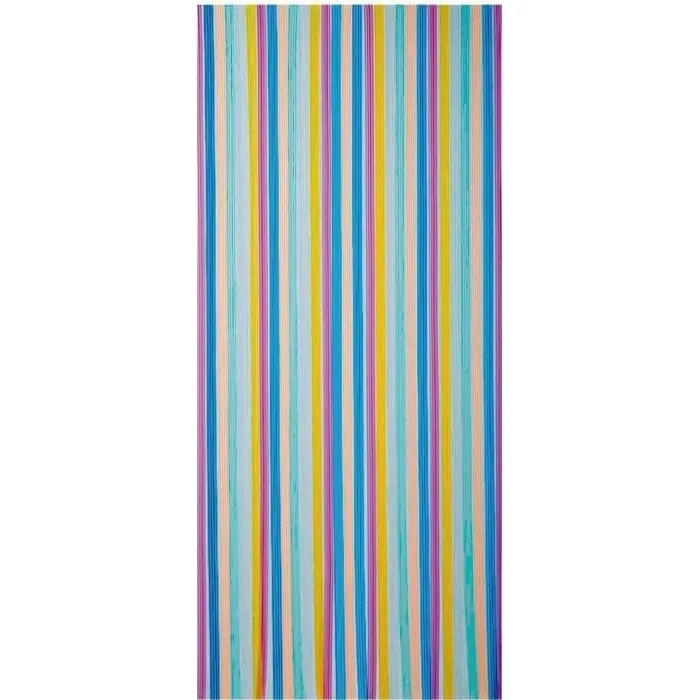rideau de porte tahiti pvc 90x220 cm multicolore