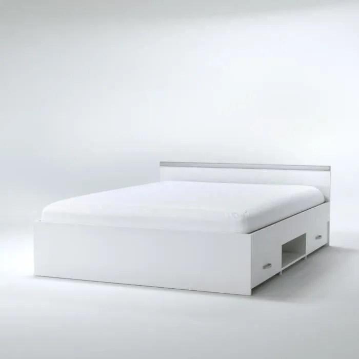 lit 2 places blanc