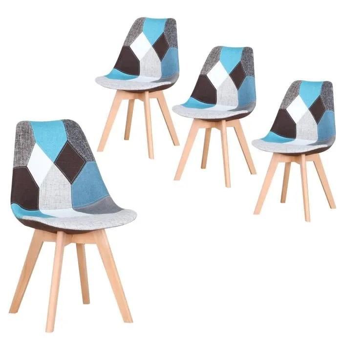 lot chaise bleu