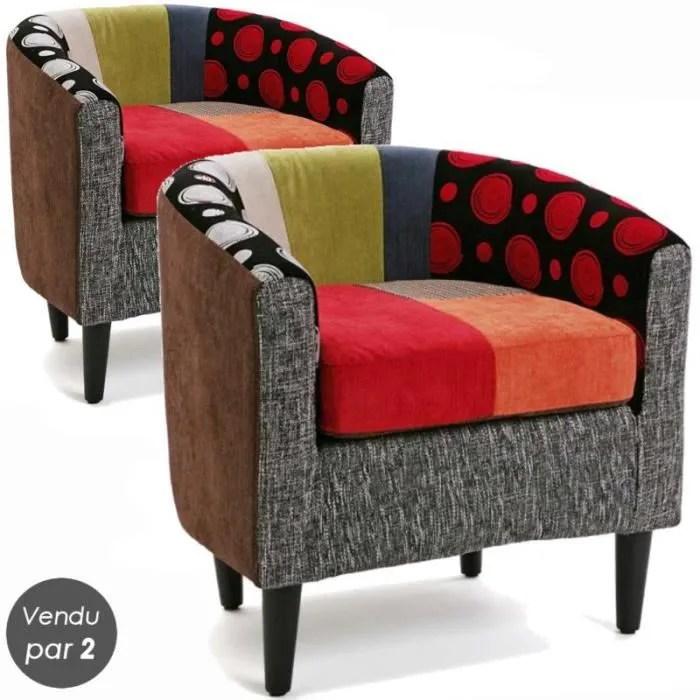 fauteuils cabriolet design thomas lot de 2