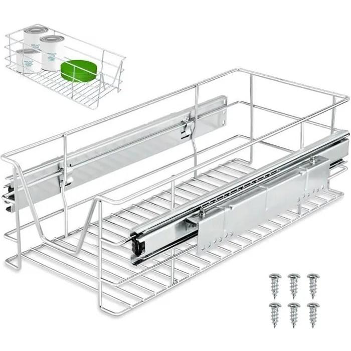 tiroir telescopique rangement armoire cuisine refrigerateur largeur meuble 30 cm