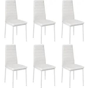 sam lot de 6 chaises de salle a manger