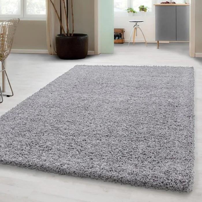 tapis shaggy haute pile pour salon salle a manger