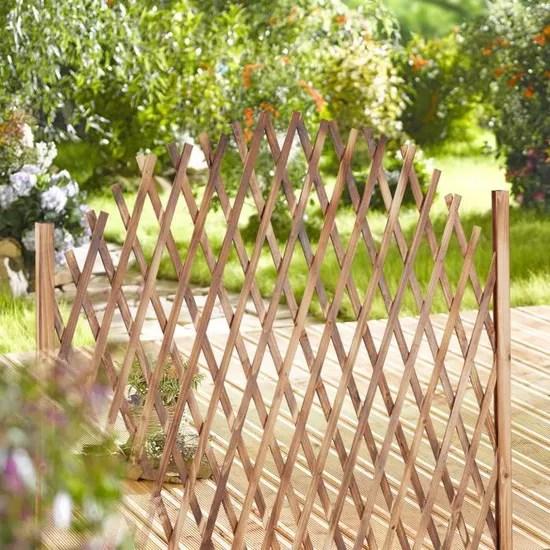relaxdays treillis jardin en bois