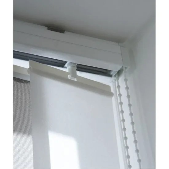 madecostore rail pour lamelles verticales 89mm ouverture laterale blanc l160cm