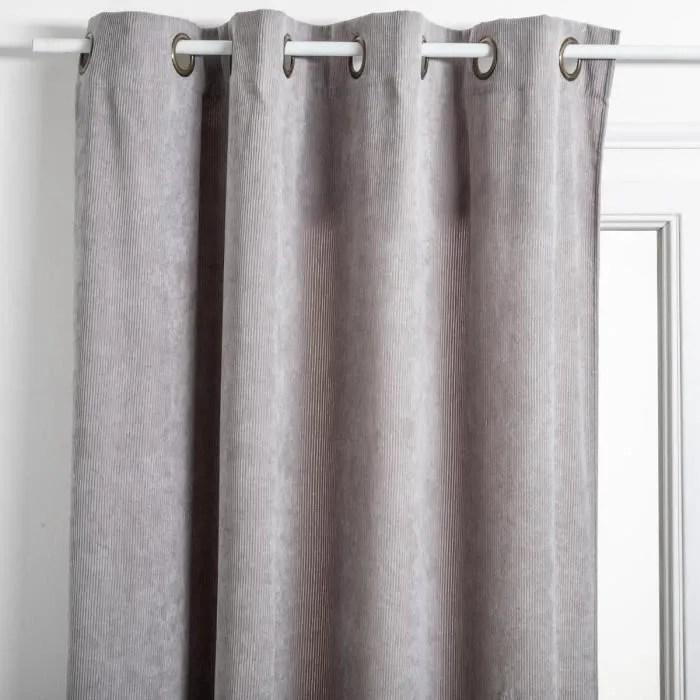 rideau cotele 140 x 260 cm gris clair