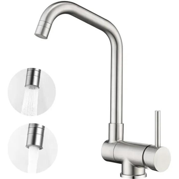 onece robinet de cuisine rabattable 2 jets aux choix mitigeur fenetre brosse anti calcaire pivotant a 360 pour evier devant fenetre