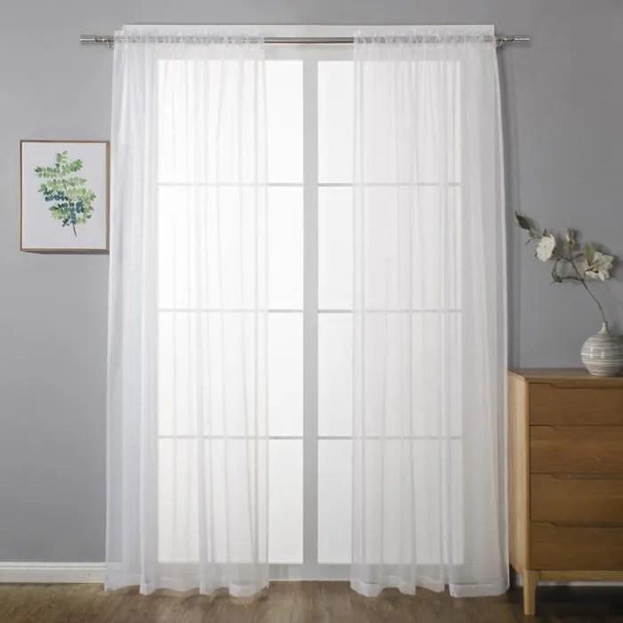 rideaux voilage 140x241 a oeillet voilage blanc a