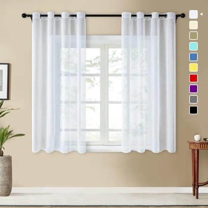 decoration noel rideau blanc